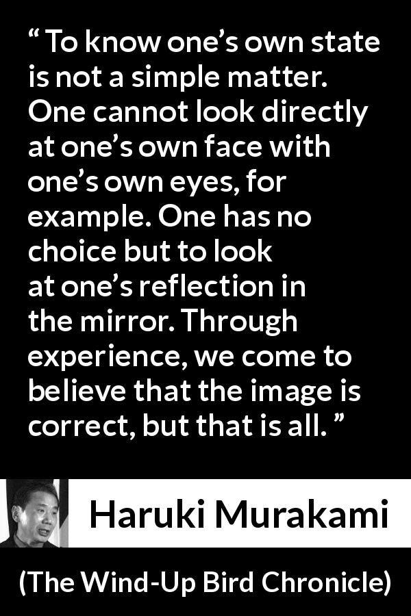 Haruki Murakami About Mirror The Wind Up Bird Chronicle 1997