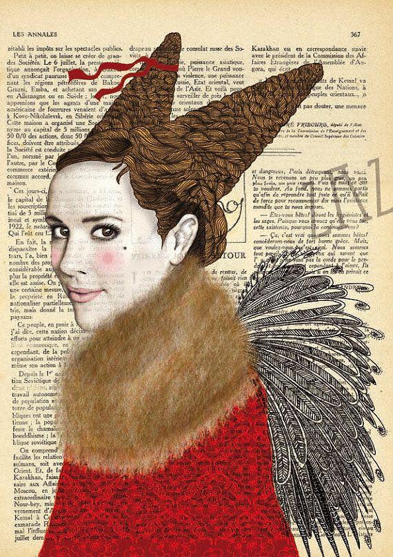 Kunstdruck französische Sängerin ZAZ von katisart auf Etsy, $26.00