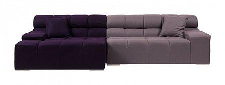 Диван Tufty-Time Sofa Фиолетово-серый Кашемир