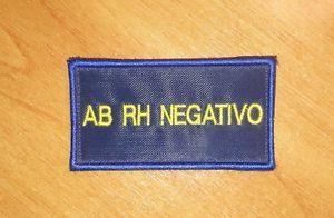 Patch Gruppo AB (RH negativo) - Bordo BLU - Nuovo - Velcro Maschio Cucito | eBay