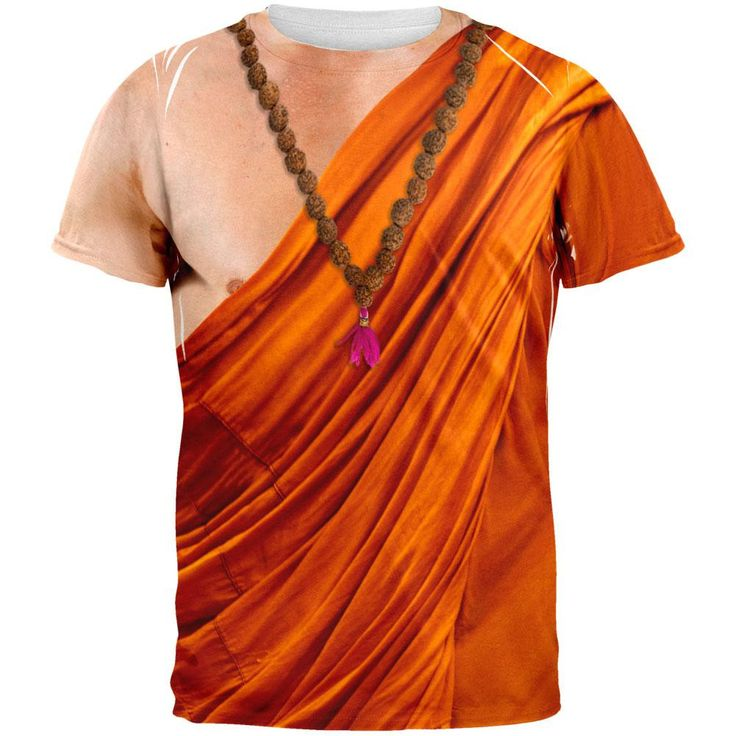 Halloween Buddhist Monk Costume All Over Adult T-Shirt