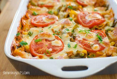 Creamy Vegetable Pasta Bake | Slimming Eats - Slimming World Recipes
