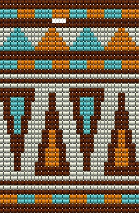 Het ontwerpen van patronen voor Mochila tassen vind ik leuker dan verwacht. Na het Circus patroon heb ik nu het Old Texas patroon ontworpen....