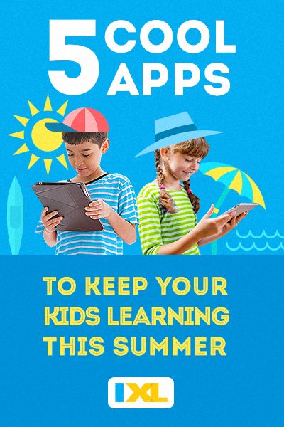 Want to keep your kids entertained and learning this summer? Check out these 5 cool apps!