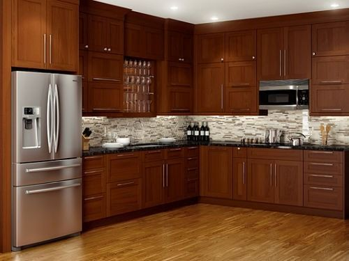 de cocina de madera en Pinterest  Colores de vitrina, Gabinetes de