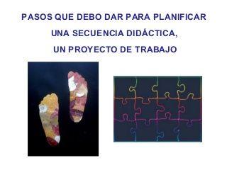 Pasos para un proyecto o secuencia didactica Ana Basterra