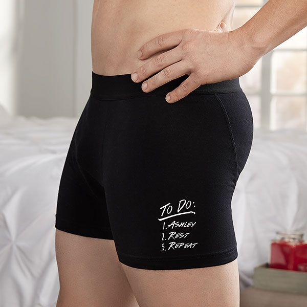 To Do List Personalized Boxer Briefs Vinyl Boxer