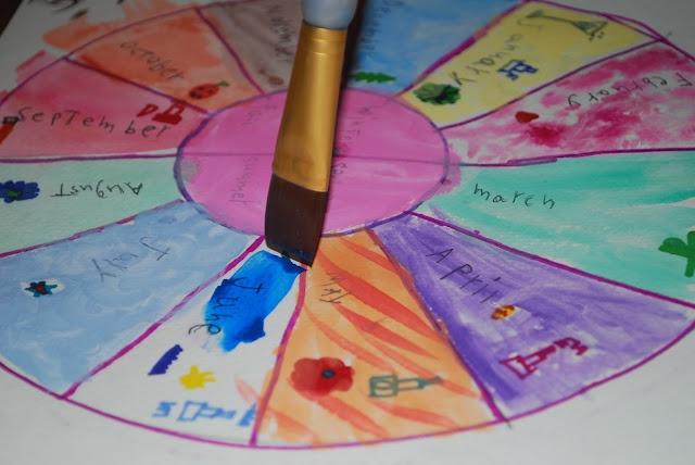 circle calendar, great way to teach months & seasons Great idea