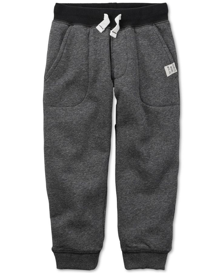 Carter's Toddler Boys' Contrast-Waist Jogger Pants