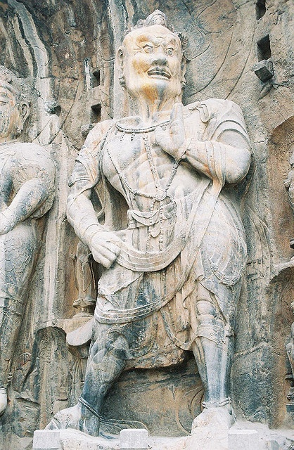 Benevolent King at Fengxian Si, Longmen Caves - Luoyang, China by demccain, via Flickr