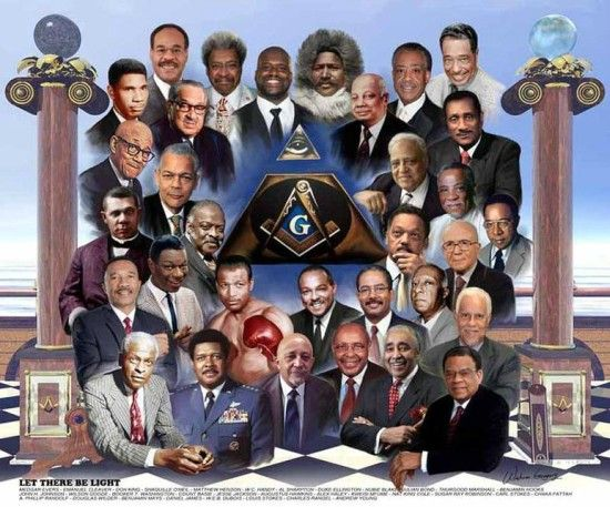 Let There Be Light (African-American Freemasons) by Wishum Gregory