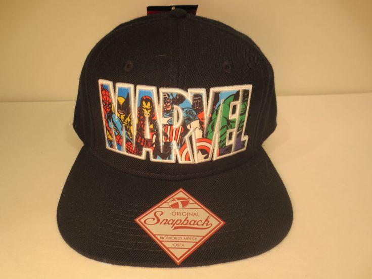 Marvel Comics Logo Hat Snapback Avengers Hulk Iron Man Spiderman Wolverine # Marvel #BaseballCap