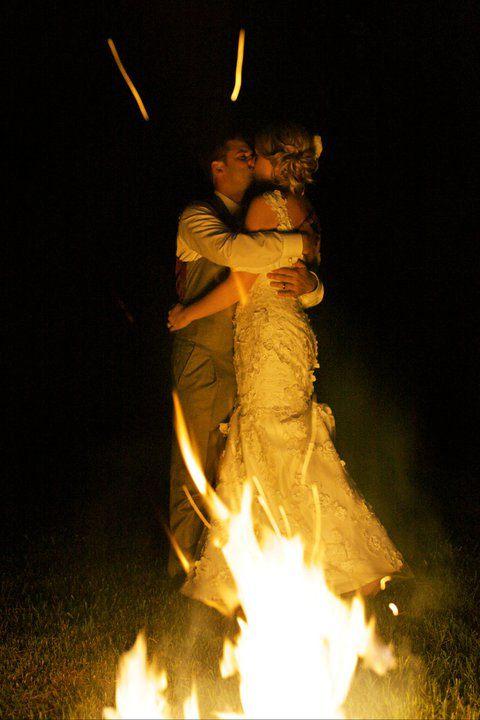 wedding bonfire at Historic Odessa