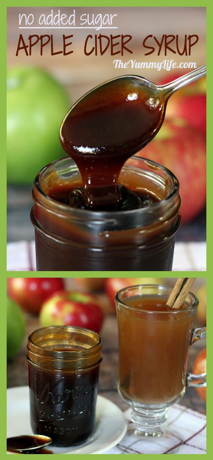 ... Apples Cider, Syrup Recipe, Cider Syrup, Natural Sweetened, Apple