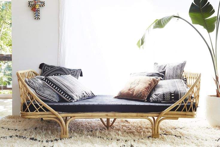 One day, I will live somewhere with a day bed piled high with pillows.  London Day Bed from Byron Bay Hanging Chairs