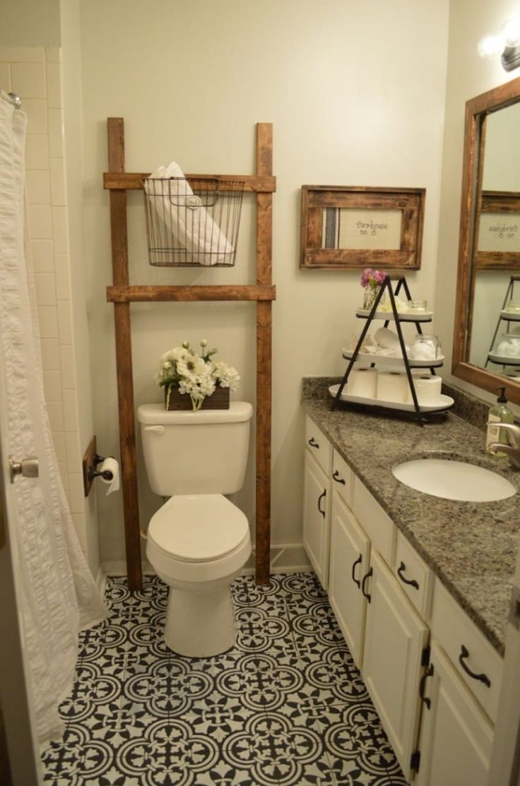 Look at the FLOORS-It's NOT tile...it's chalk paint!!! https://littlethings.com/fake-tiles-bathroom-floor/?utm_source=shut&utm_medium=Facebook&utm_campaign=crafts