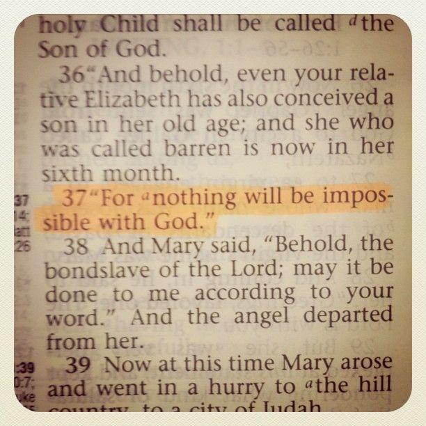 (from Luke 1:37)