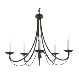 Gallery Versailles 5-light Black Wrought Iron Chandelier - 16170455 - Overstock.com Shopping - Great Deals on Gallery Chandeliers & Pendants