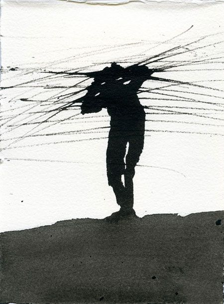Antony-Gormley- Ink drawings                                                                                                                                                                                 Plus