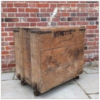 NEW | French Wooden Factory Trolley | mayflyvintage.co.uk | Warehouse Home Design Magazine