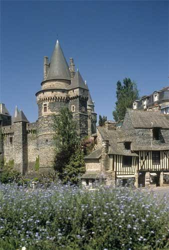 Château de Vitré, near Rennes, Bretagne, France.