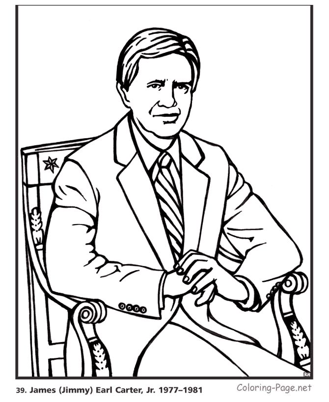 jimmy carter us president coloring page