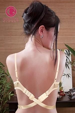 Women's Low Back Bra Converter 3 Hook Nude Strap Extender for Backless Dresses and Tops by Best Sellers