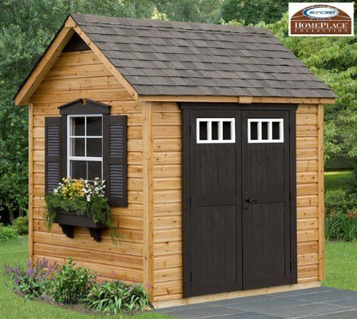 amazoncom legacy 8 x 6 wood garden and storage shed building kit