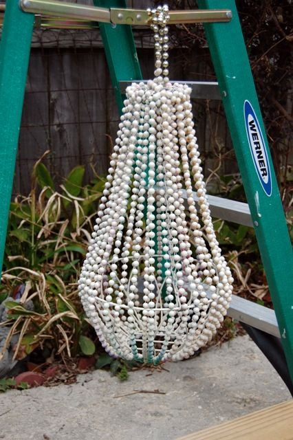 make a chandelier out of mardi gra beads and spray paint...FABULOUS!!
