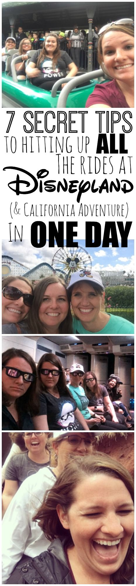 "This isn't your typical ""Disneyland Tips"" post-- we are diving deeper and letting you in on the secrets to hitting up all the rides in both parks in ONE DAY"