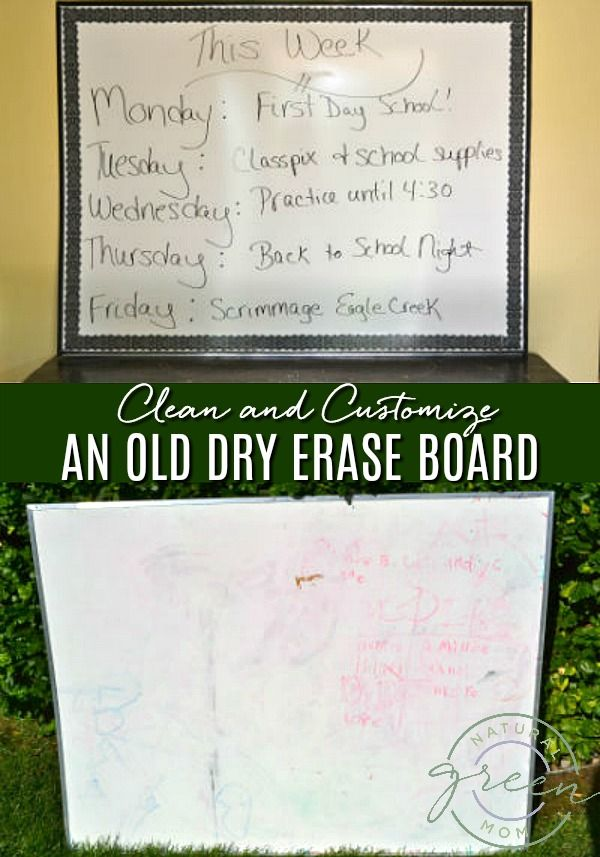 How I Cleaned An Old Dry Erase White Board And Added Custom Touches To Make It Look Brand New Don T Thro Diy Dry Erase Board Clean Dry Erase Board White Board