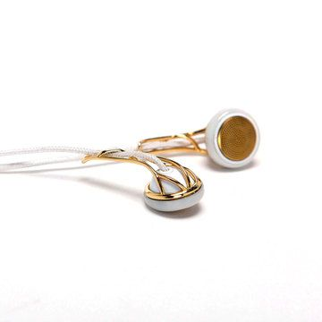 My design inspiration: Ella Earbuds Gold/White on Fab.