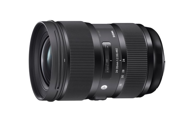 The Sigma 24-35mm F2 DG HSM | Art lens, the world's first large-aperture full-frame wide-angle zoom lens offering F2 brightness throughout the zoom range. While offering the premier optics of the Art line, this lens covers 24mm, 28mm and 35mm focal lengths. Announced 17th June 2015