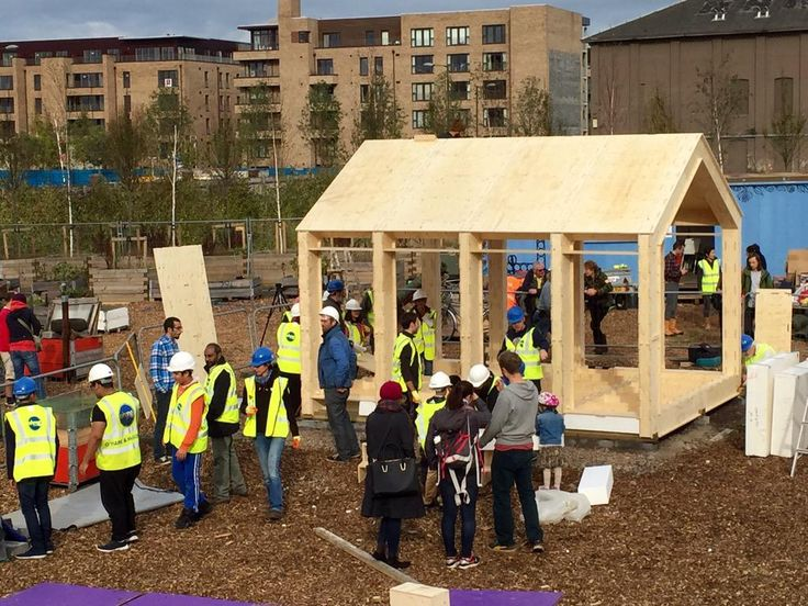 WikiHouseEDIN // 2015 // Fountainbridge // Fountainbridge is a hive of activity as community volunteers come together to build the #wikihouseEDIN.
