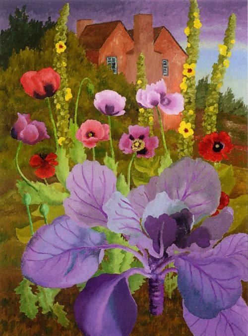 PAINTING COMPLIMENTARY COLORS ----------- 'Back Garden at Benton End' - Cedric Morris.