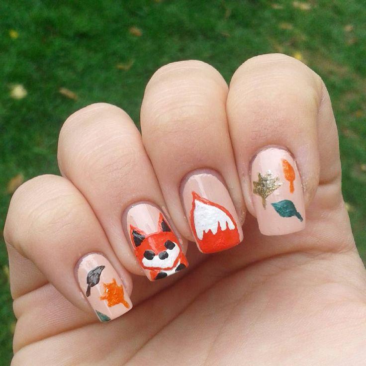 Domi Králiková (@domi_nailart) Fox in the woods🍂💅🍁 #autumnnails #autumnleaves #autumn #fox #foxy #foxnails #cartoon #redfox #leaves #colorful #nailart #nails #nailartist #nailartwow #nailartclub #nailartideas #pin #pinnails #pinterest #pinit #follow #follownails