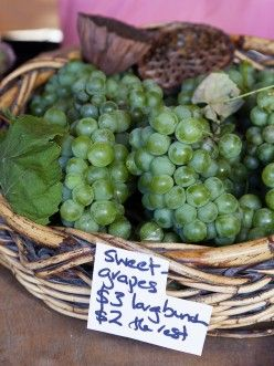 "MATAKANA MARKET - Great deal on grapes at the Saturday Matakana Farmers Market. I must have been fixing guest breakfast and missed it! More ""best Matakana attractions"" here...  http://www.matakanacountry.co.nz/markets-lodging-accommodations-auckland-coast-wine-country-hotels/the-best-of-matakana-things-to-do-in-matakana-nz-auckland-wine-region-area-attractions/ #matakana #markets #newzealand"