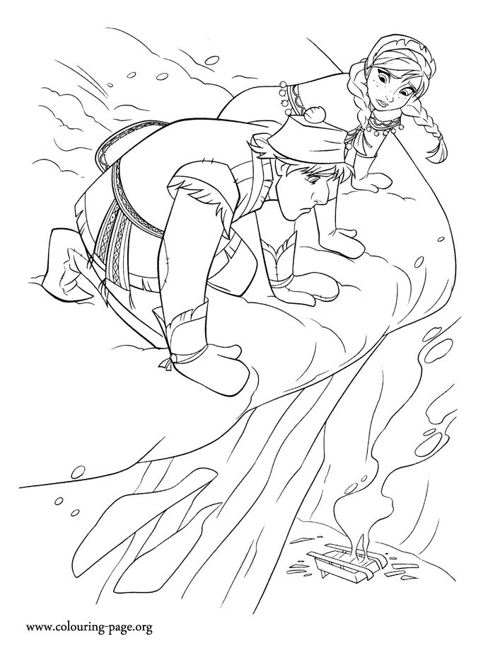 Kristoffs Sled Is Destroyed But Anna Still Needs His Help Have Fun Coloring This Free Disney Frozen Page Make A Dialog