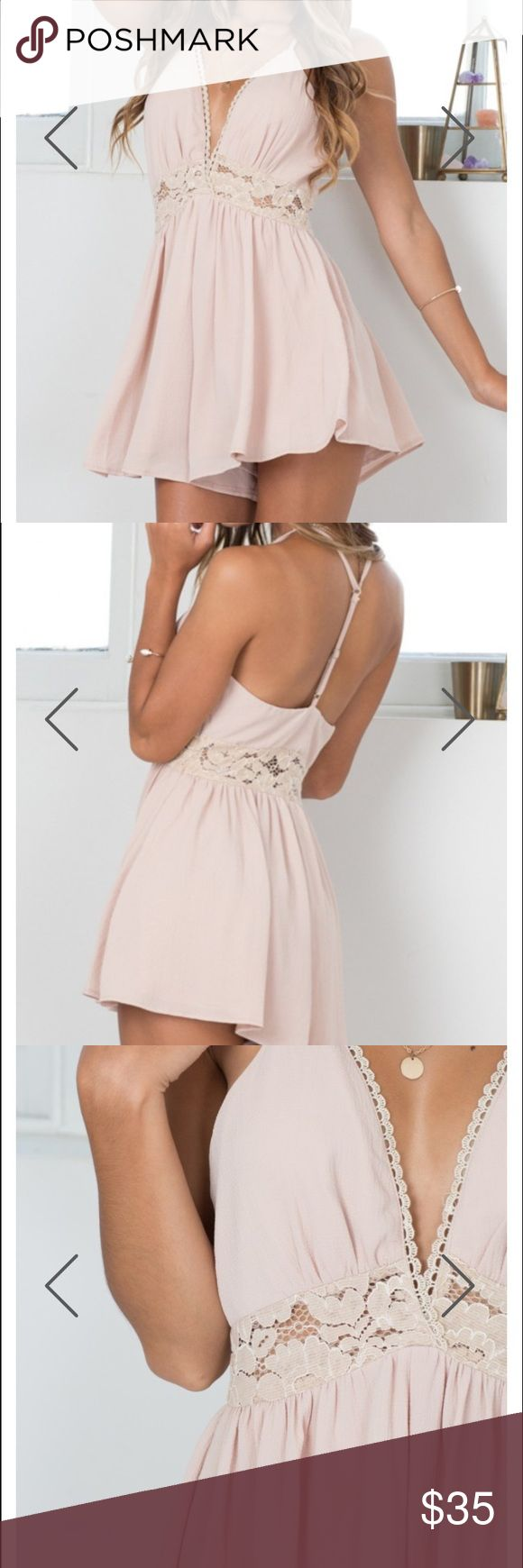 SHOWPO PLAYSUIT/ROMPER SELLING SHOWPO BEIGE PLAYSUIT (Kind of looks like dusty rose) and I'm selling it because it doesn't fit me!! showpo Other