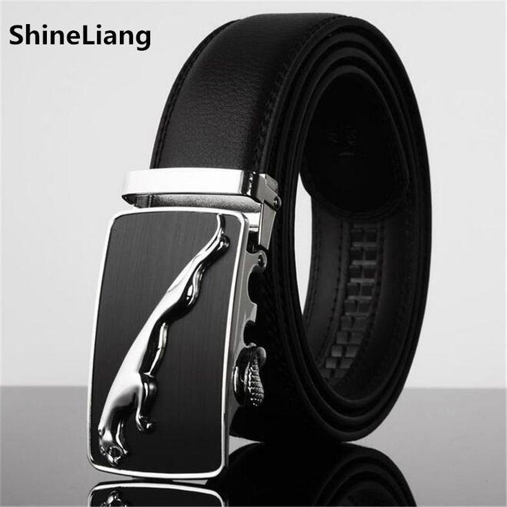 Wide3.5CM Famosos Designers da marca de Couro dos homens da Correia de alta qualidade Luxo Metal cinto de fivela automática tira Da Cintura para Hombre Moda masculina
