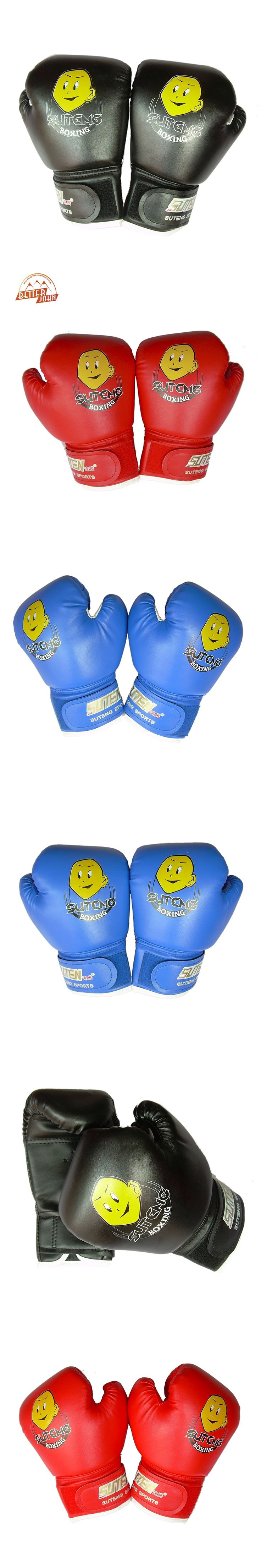 SUTEN High Quality Child 1 Pair Durable Boxing Gloves Cartoon Sparring Kick Fight Gloves Training Fists PU Leather Muay Sandbag