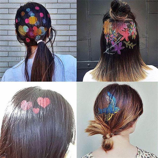 Бьюти-тренд: красочные рисунки на волосах