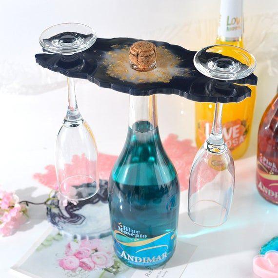 glass holder mold Wine glass holder tray mold wine Bottle holder mold wedding decor mold decor mold