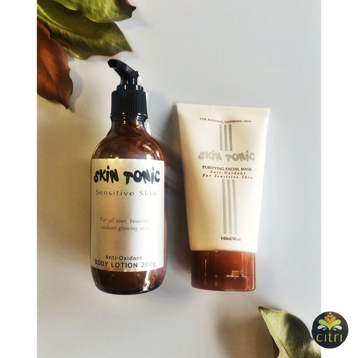 SKIN TONIC PURIFYING FACIAL MASK. Anti oxidants for sensitive skin. Organic for radiant glowing skin. SKIN TONIC BODY LOTION. Can be used all over the body for beautiful, radiant glowing skin.