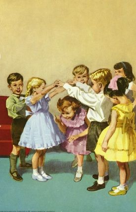 Playing Oranges and Lemons  - The Party - LadyBird Books 1960 J. H. Wingfield