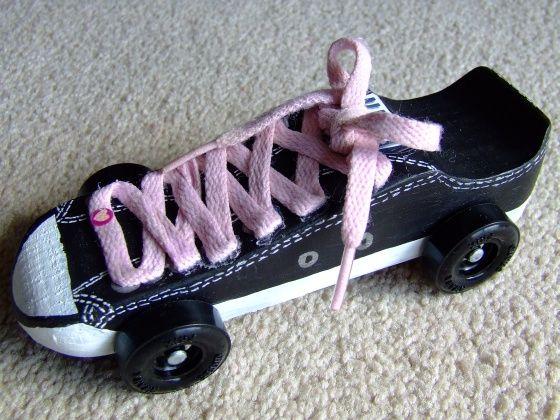 Tennis shoe Awana Grand Prix car!