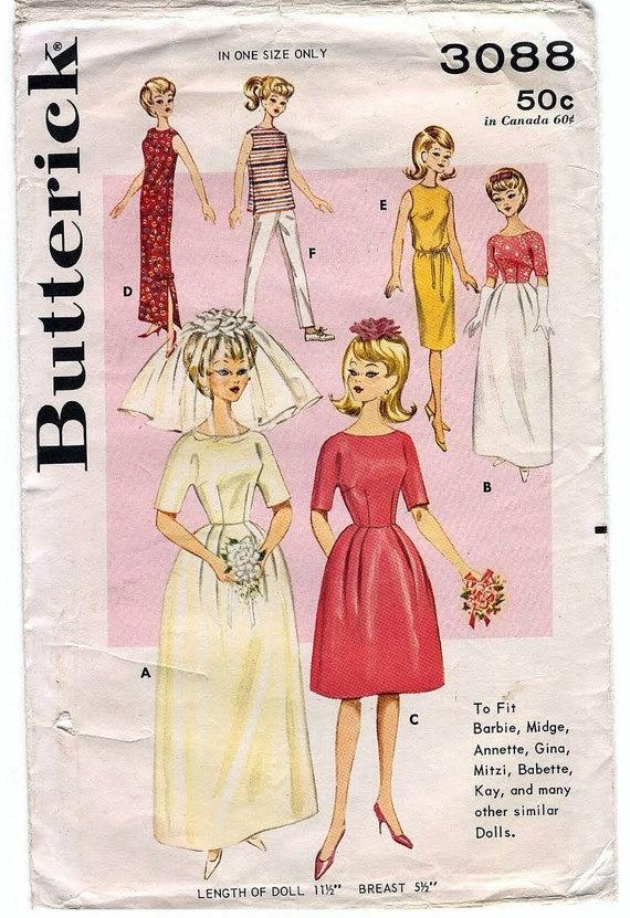 Vintage Barbie Clothes Patterns « Heritage Malta