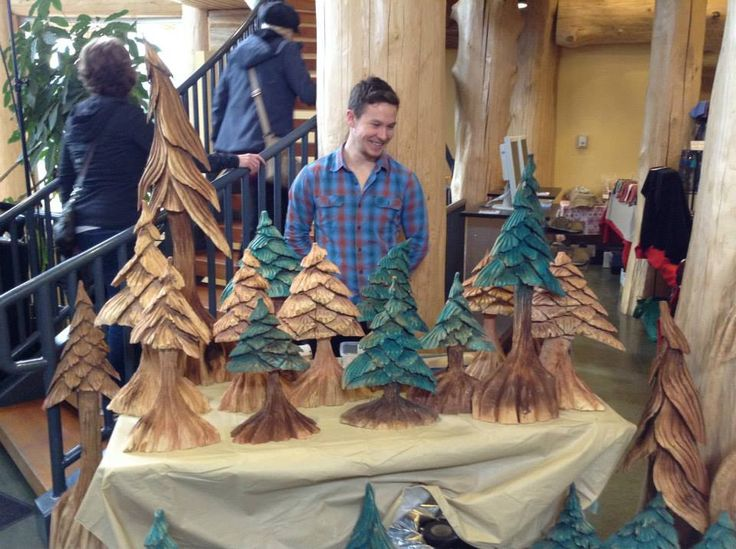 It was slow going at first, but Jacob and Little Man managed to sell all of their trees at the craft sale.