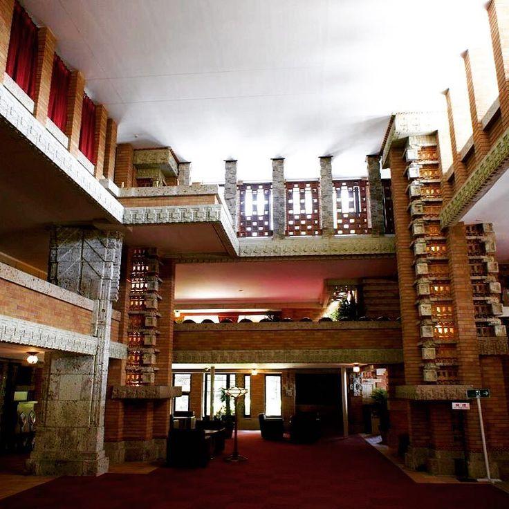 1921 Imperial hotel designed by Frank Lloyd Wright Tokyo