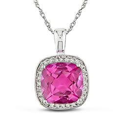 @Overstock - Jewelry blushes with a pink topaz set amid icy diamondsGraceful pendant and delicate rope chain are crafted of gleaming 10k white goldAdd a dash of sparkling color to your look with this attractive necklacehttp://www.overstock.com/Jewelry-Watches/10k-Gold-Pink-Topaz-and-1-10ct-TDW-Diamond-Necklace/3153874/product.html?CID=214117 $145.49